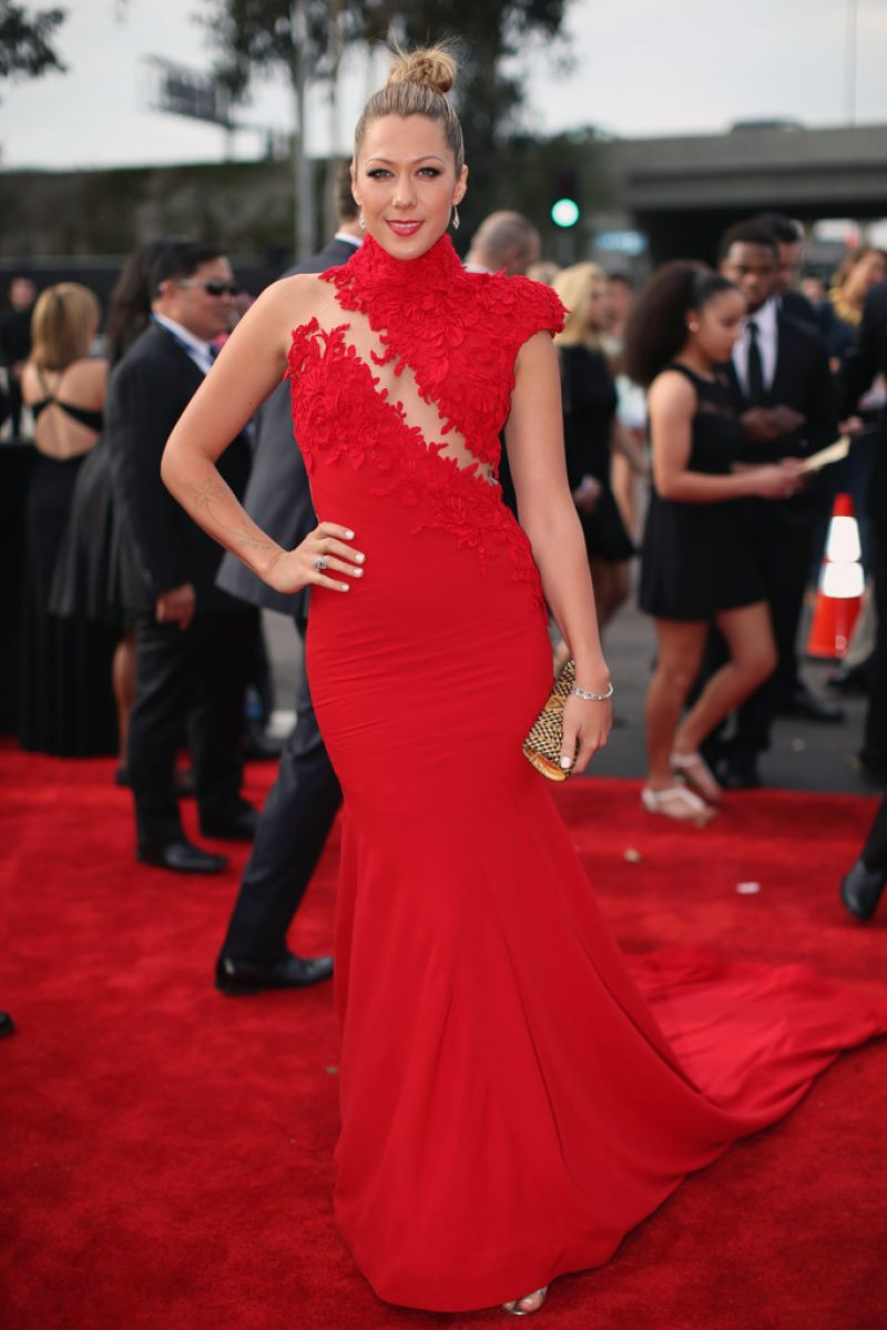 COLBIE CAILLAT at 2014 Grammy Awards in Los Angeles