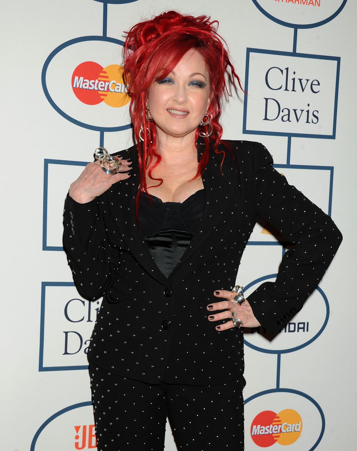 CYNDI LAUPER at 2014 Pre-Grammy Gala in Beverly Hills