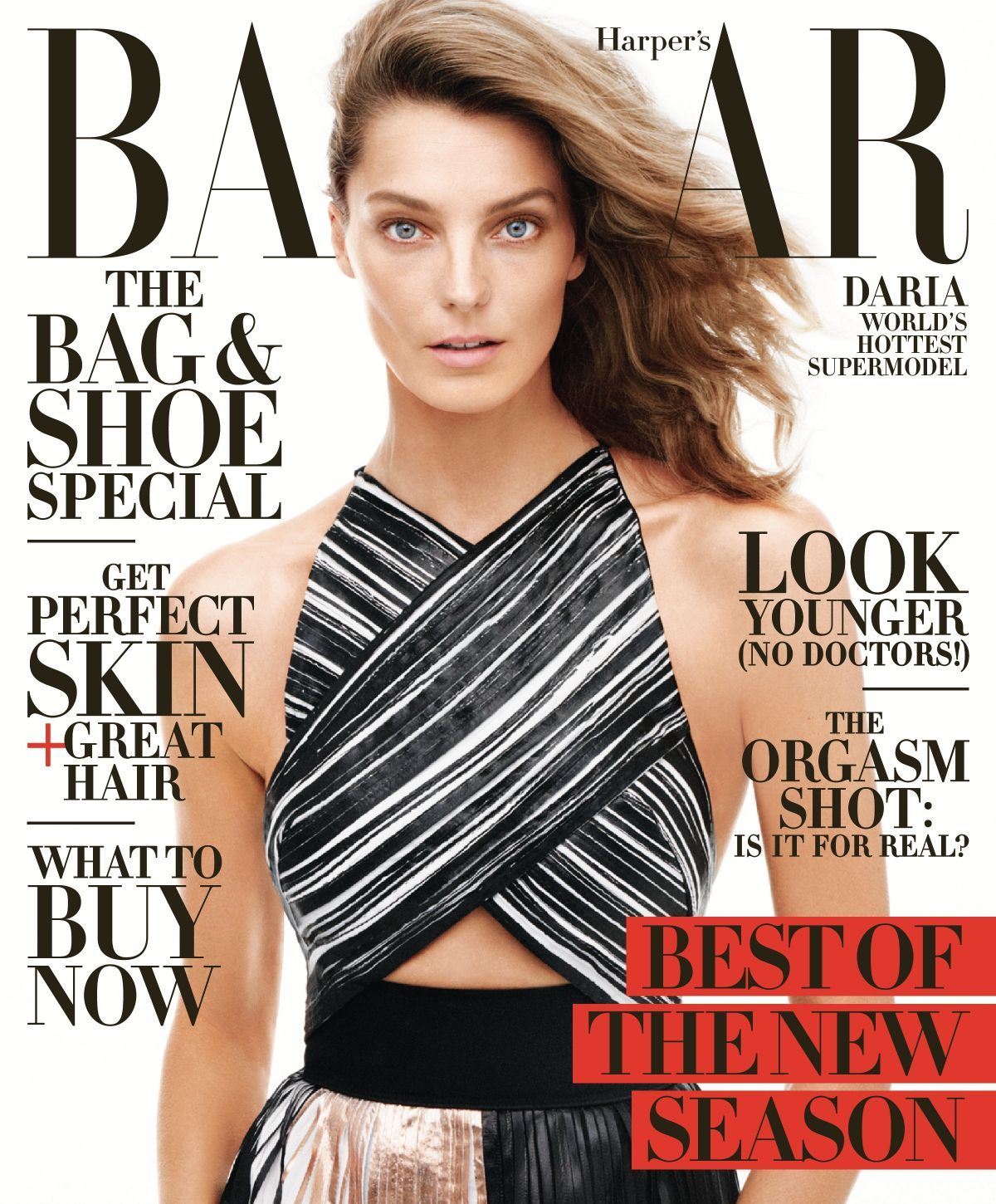 DARIA WERBOWY on the Cover of Harper