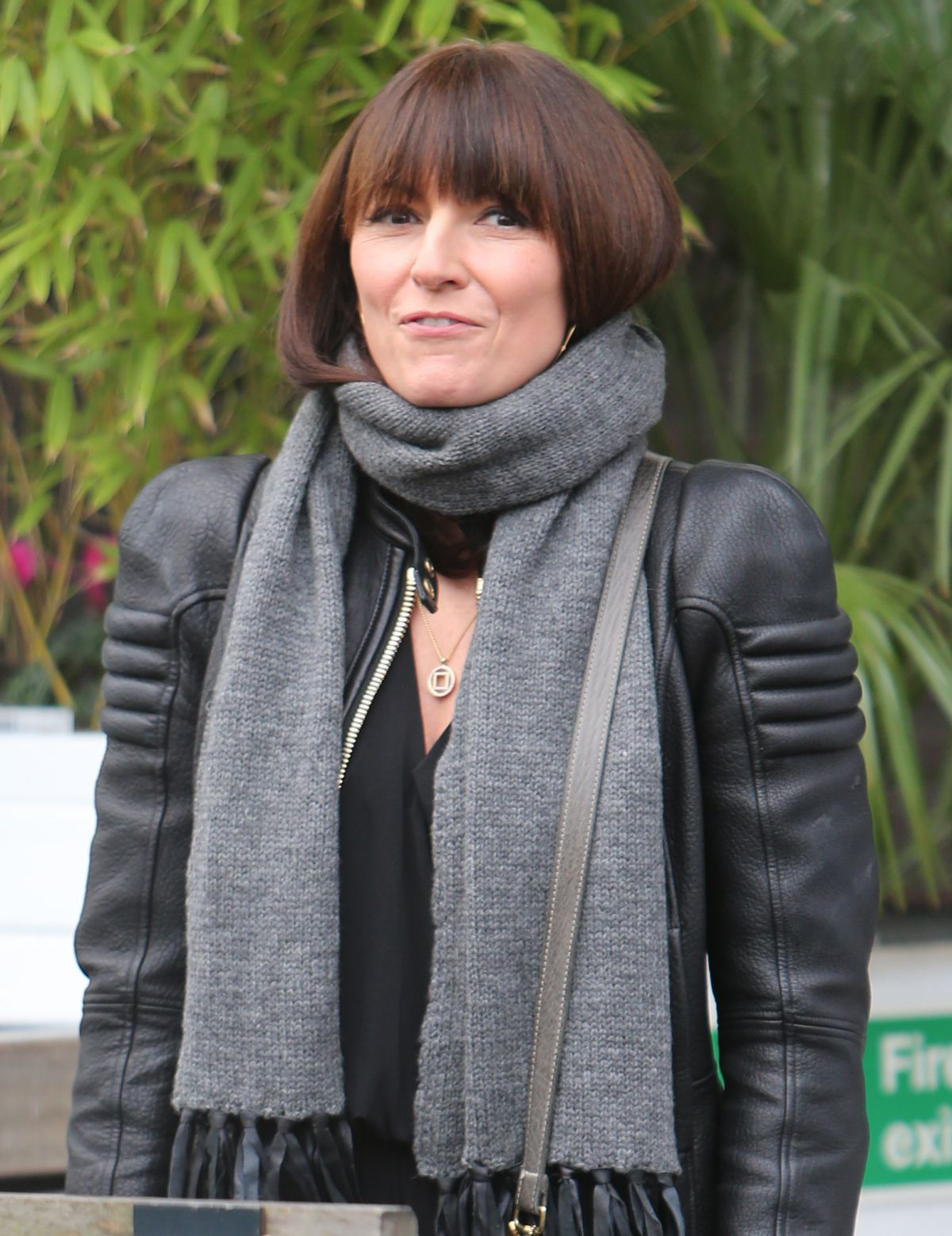DAVINA MCCALL Leaves ITV Studio in London