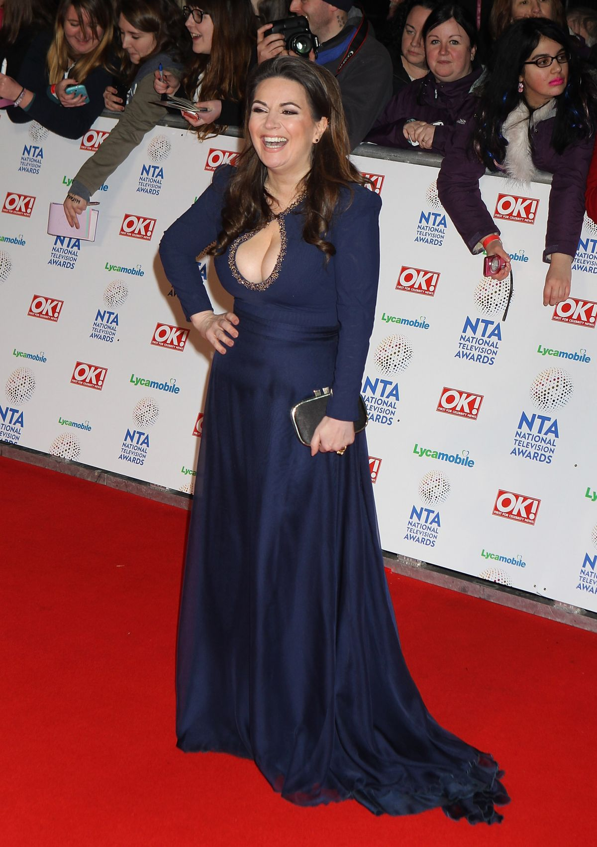 DEBBIE RUSH at 2014 National Television Awards in London