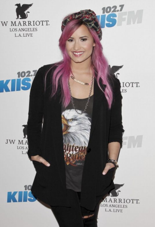 DEMI LOVATO at 56th Grammy Awards Backstage at Grammys Pre-Party