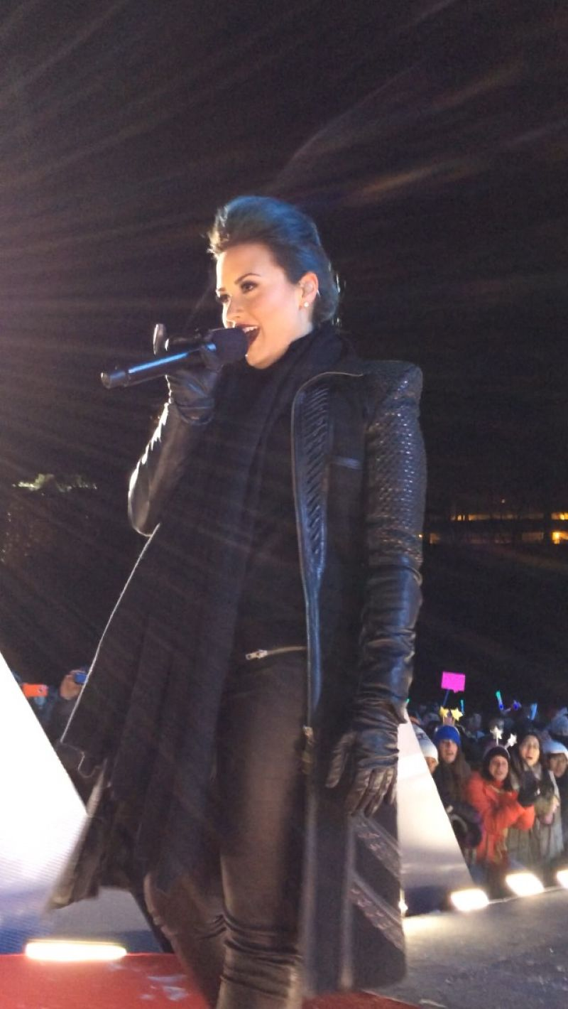 DEMI LOVATO Performs at New Year