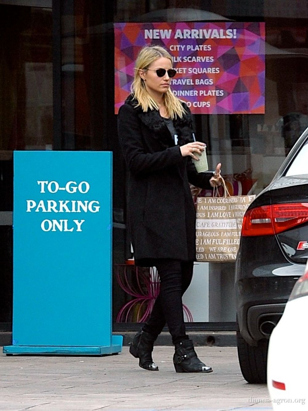 DIANNA AGRON Leaves Cafe Gratitude in Los Angeles