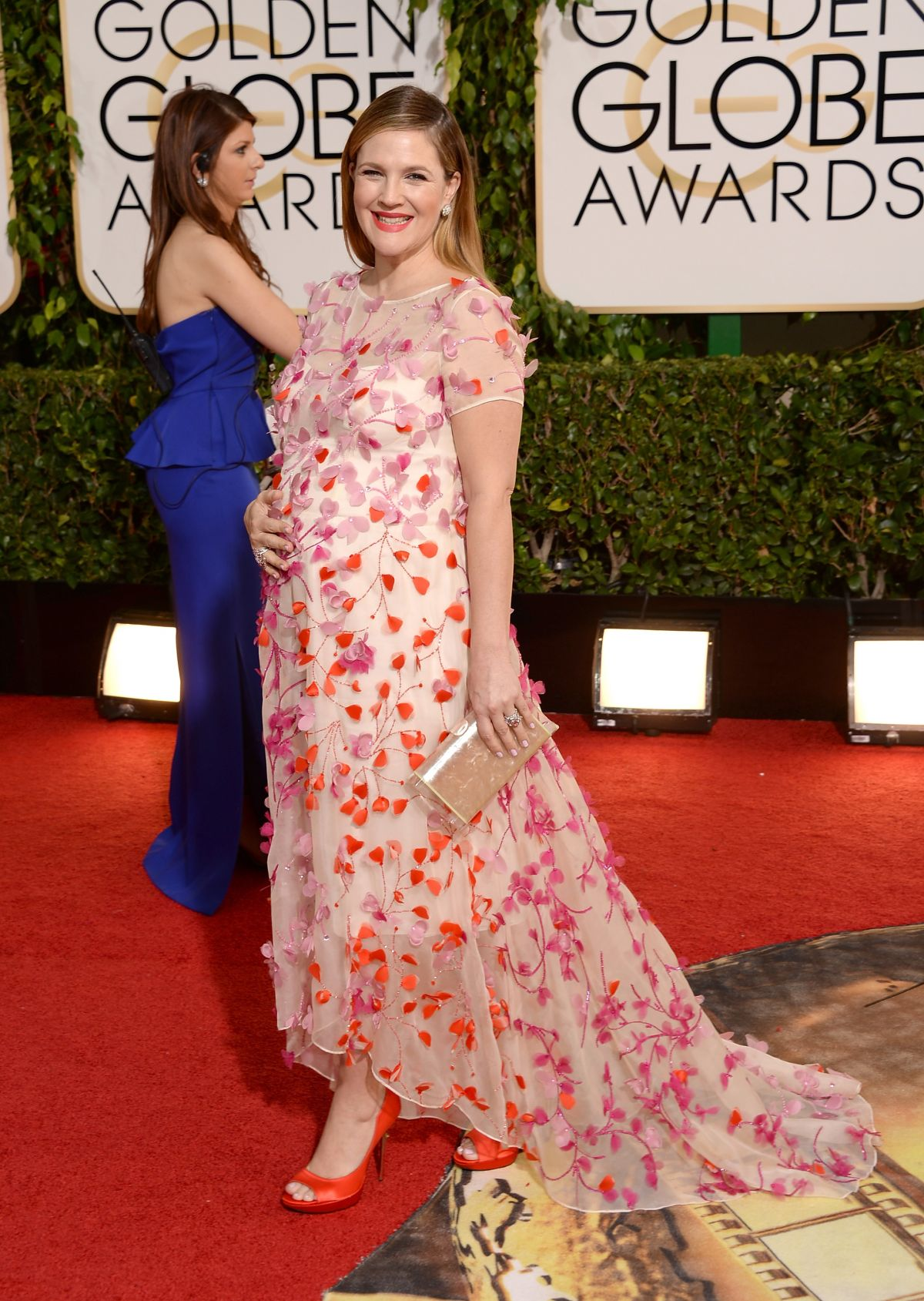 DREW BARRYMORE at 71st Annual Golden Globe Awards