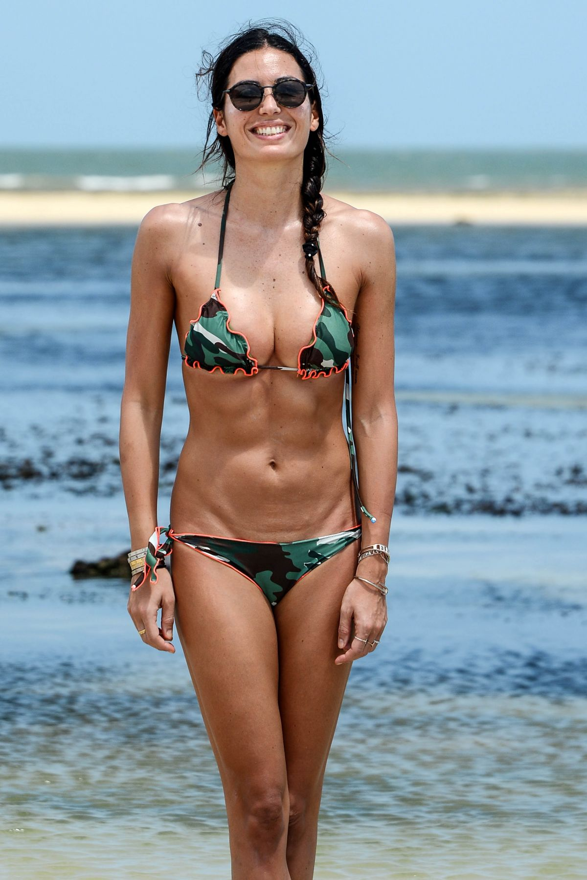 ELISABETTA GREGORACI in Bikini on the Beach in Kenya