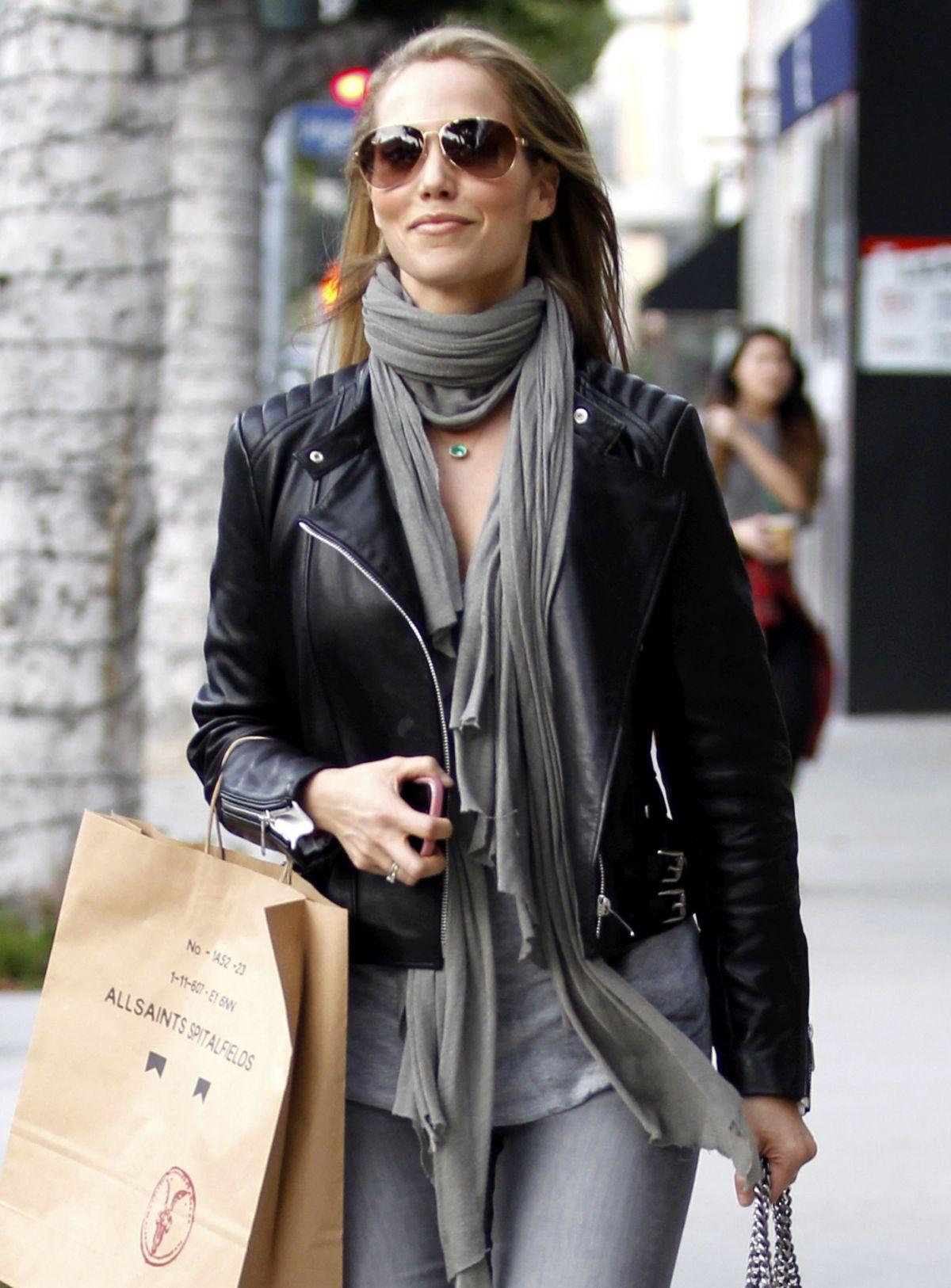 ELIZABETH BERKLEY Shopping at All Saints in Beverly Hills