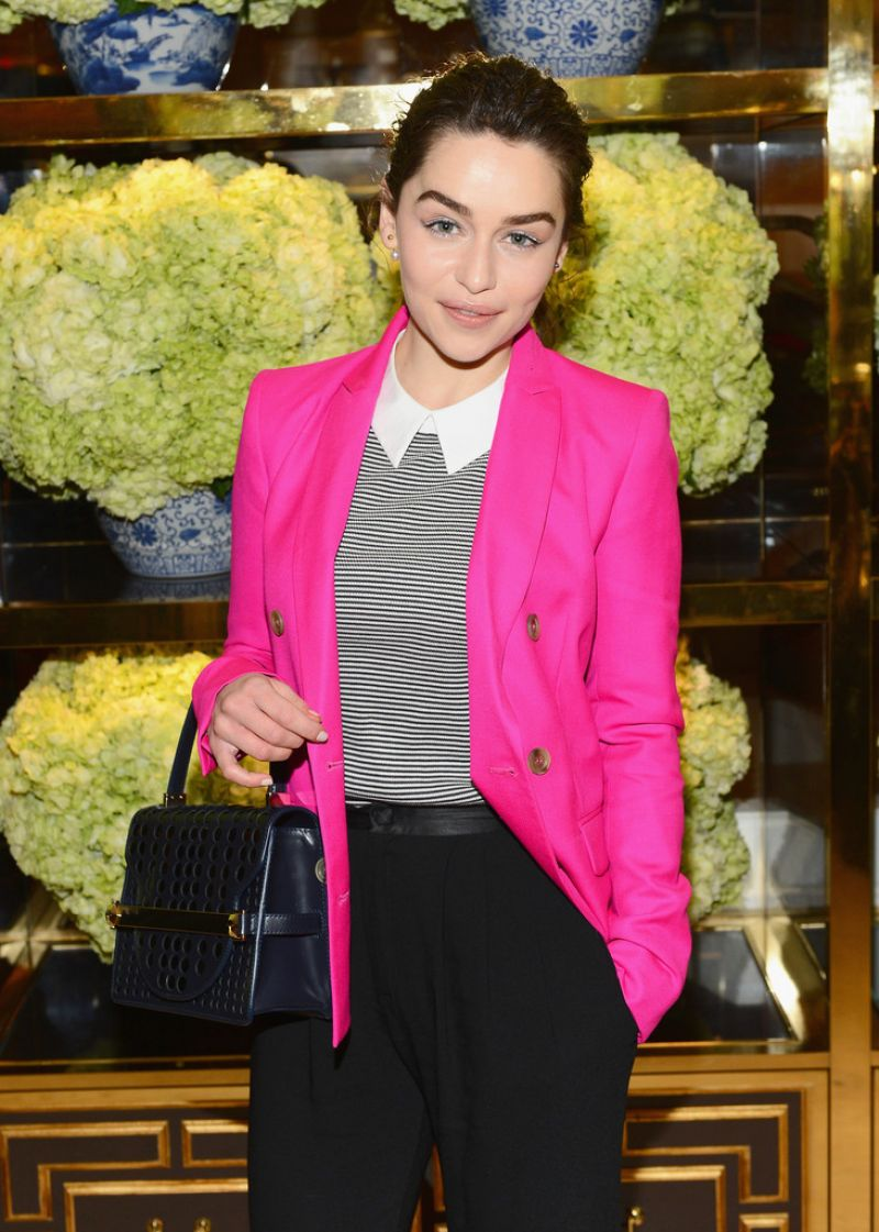 EMILIA CLARKE at Tory Burch Rodeo Drive Flagship Opening in Beverly Hills