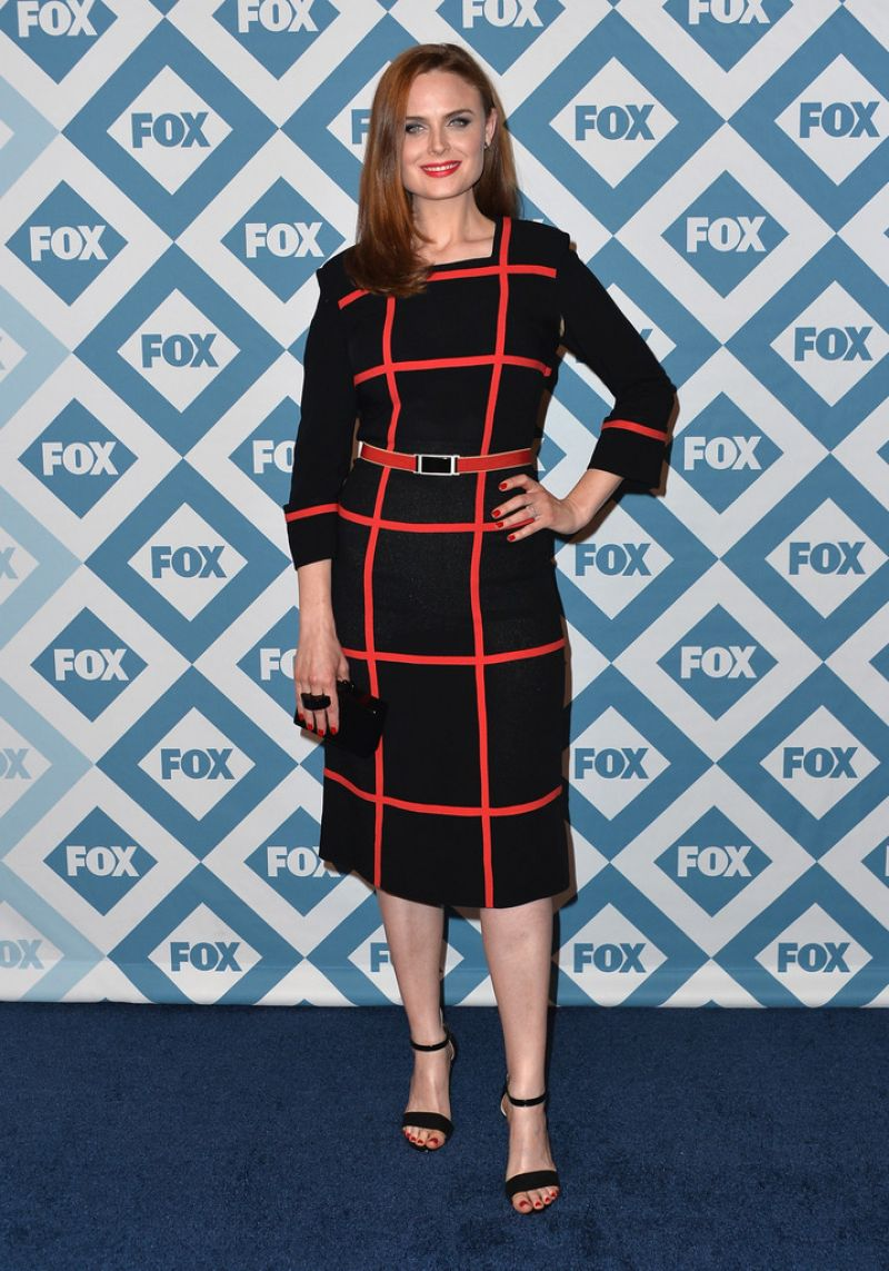 EMILY DESCHANEL at 2014 FOX All-star Party in Pasadena