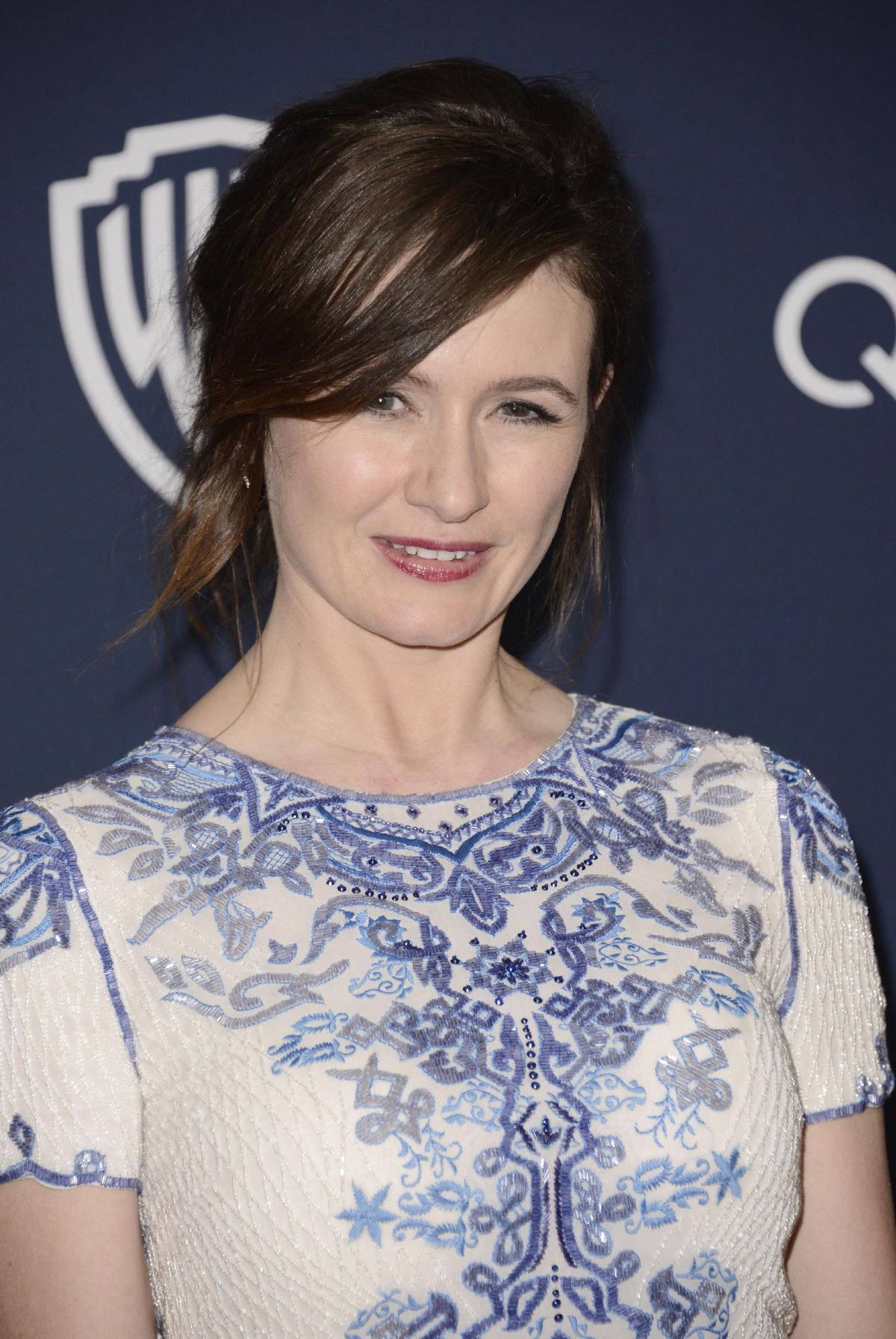 EMILY MORTIMER at Instyle and Warner Bros. Golden Globes Afterparty