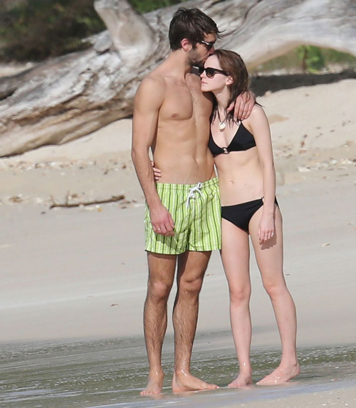 EMMA WATSON and Matthew Janney at a Beach Caribbean