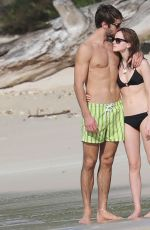 EMMA WATSON and Matthew Janney at a Beach Caribbean