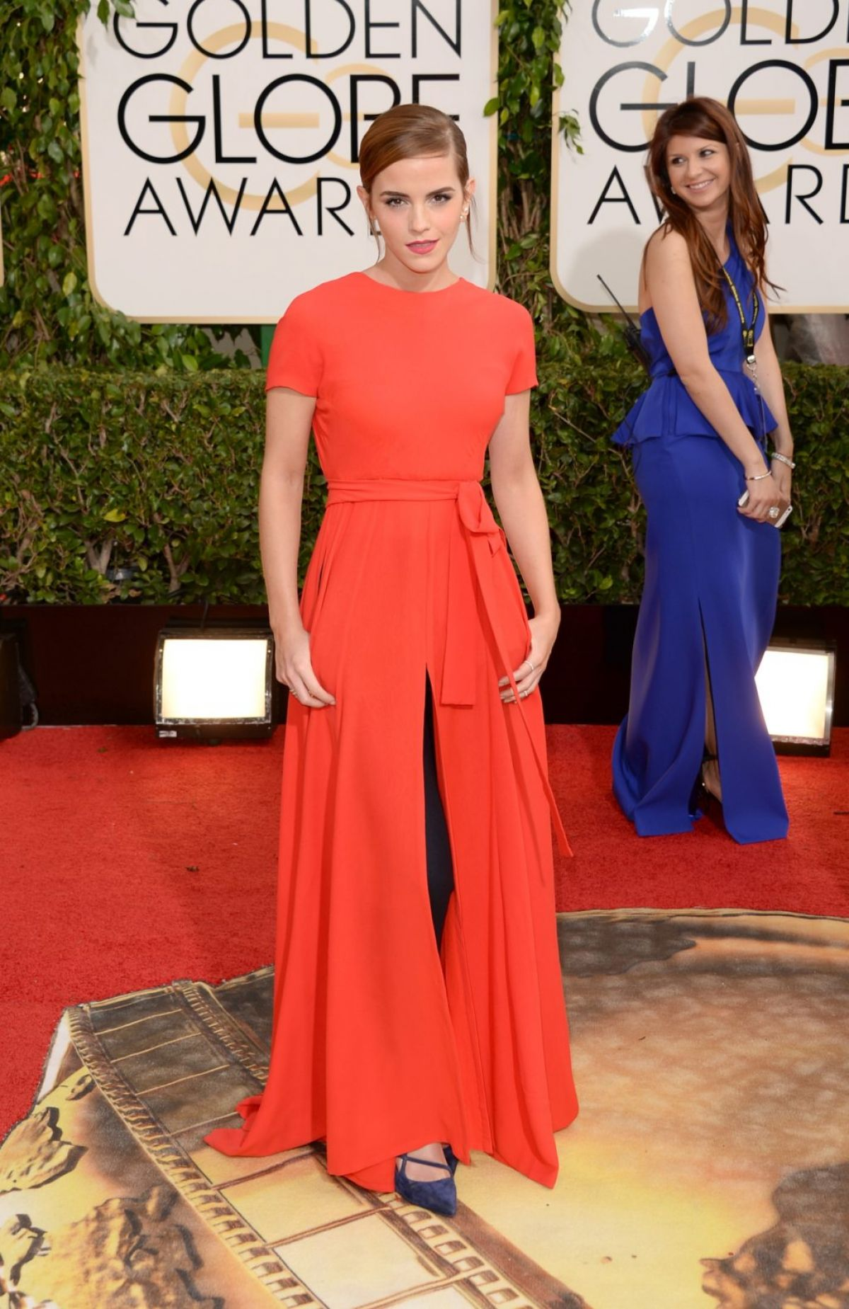 EMMA WATSON at 71st Annual Golden Globe Awards