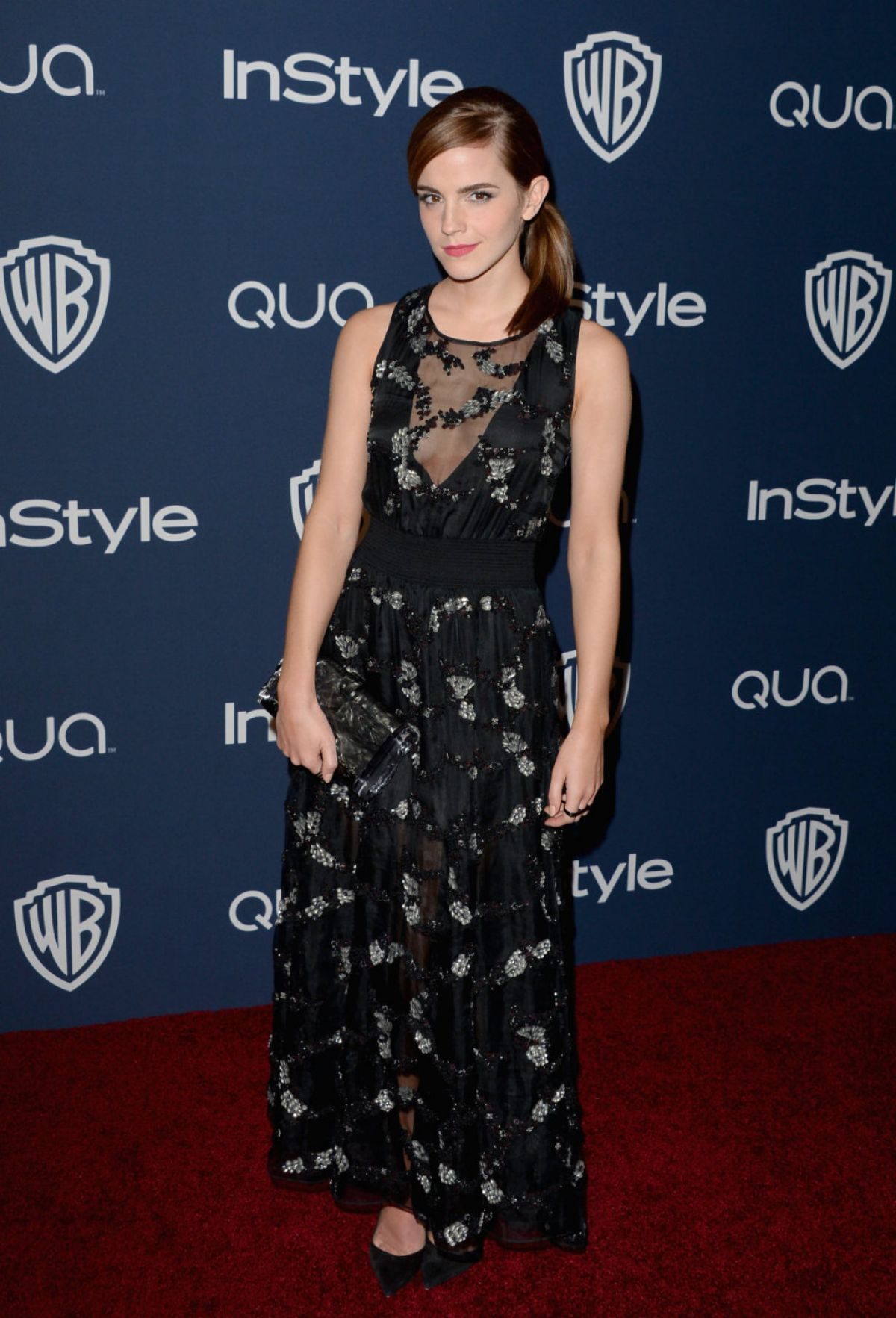 EMMA WATSON at Instyle and Warner Bros. Golden Globes Afterparty