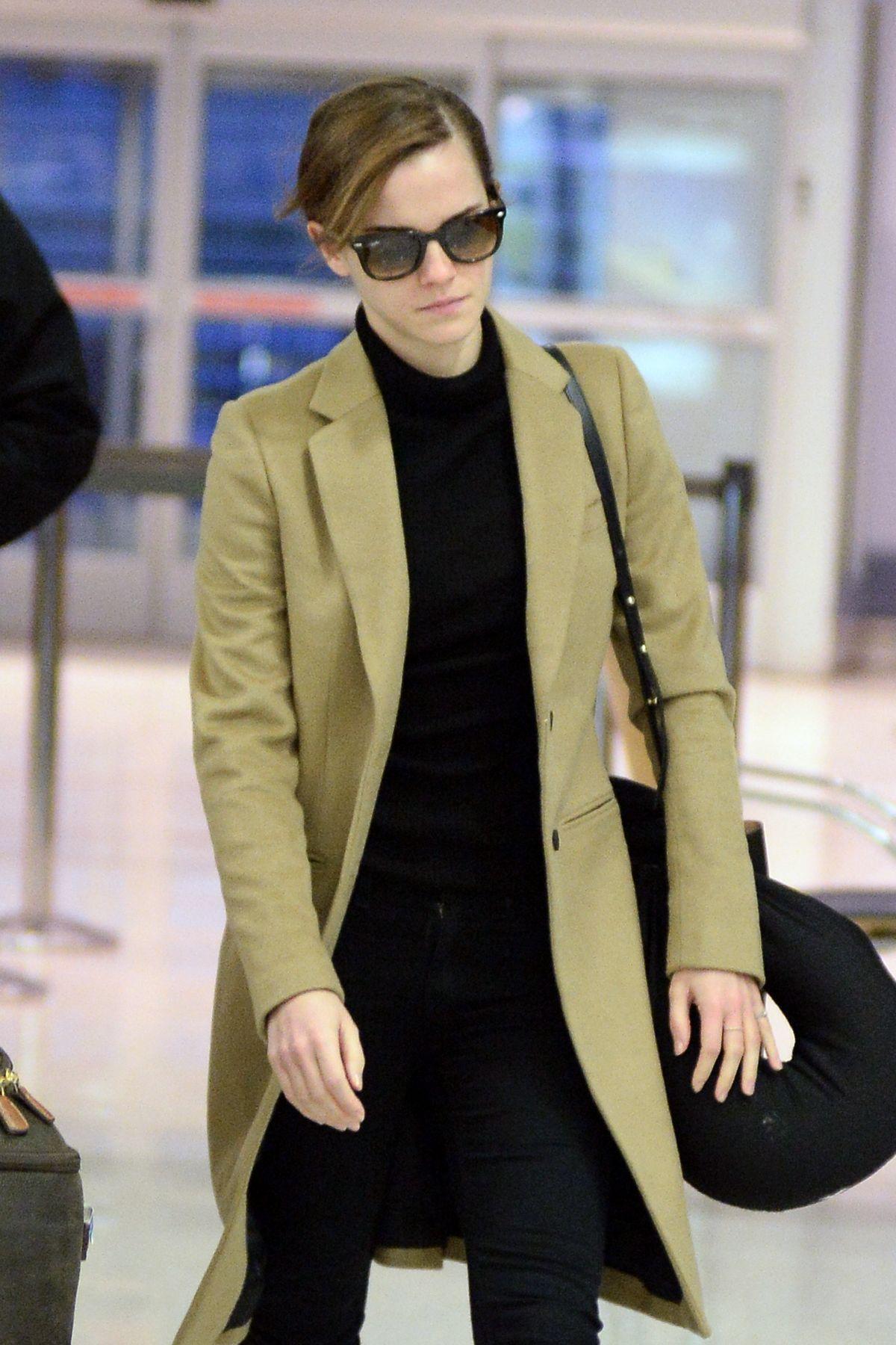 EMMA WATSON at JFK Airport