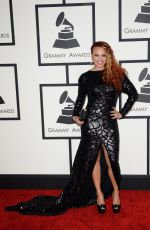 FAITH EVANS at 2014 Grammy Awards in Los Angeles
