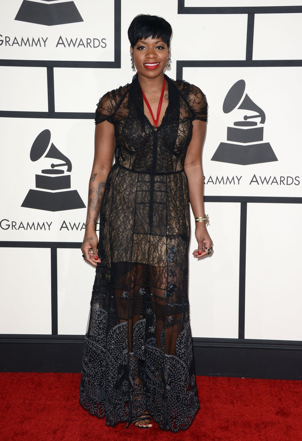 FANTASIA BARRINO at 2014 Grammy Awards in Los Angeles