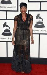 Fantasia Barrino at 2014 Grammy Awards in Los Angeles