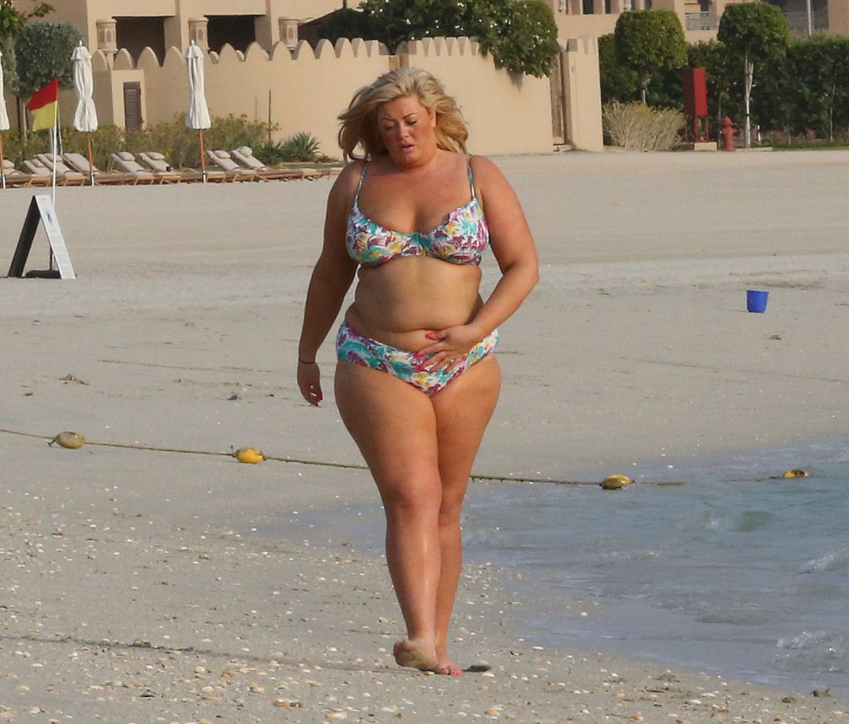 GEMMA COLLINS in Bikini in Dubai