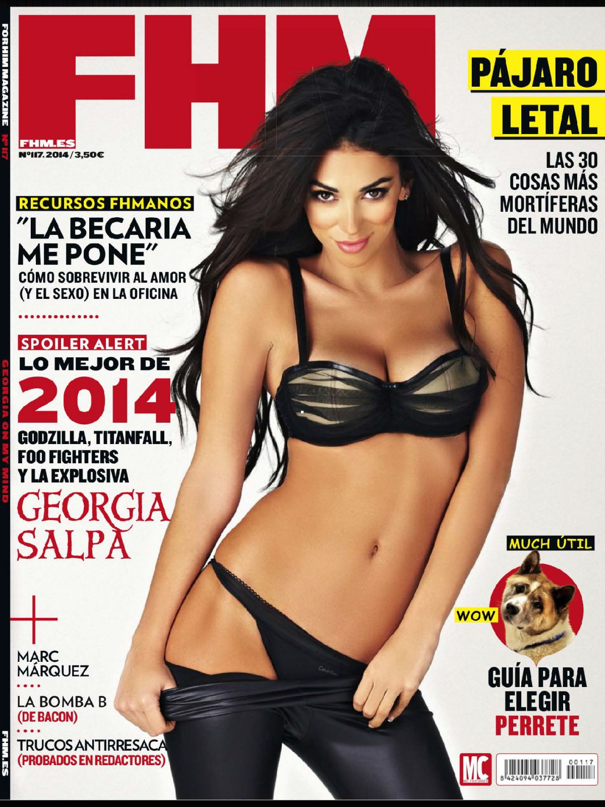 GEORGIA SALPA in FHM Magazine, Spain February 2014 Issue