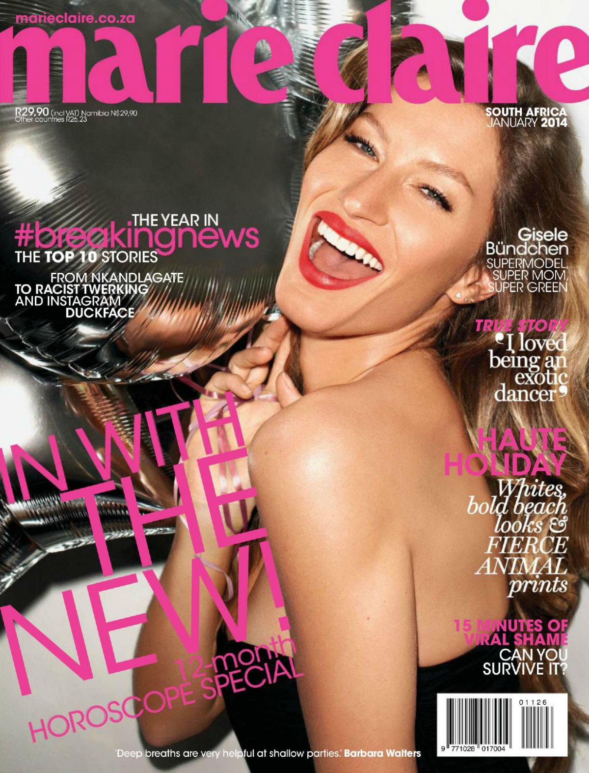 gisele bundchen in marie claire magazine south africa january 2014 issue hawtcelebs. Black Bedroom Furniture Sets. Home Design Ideas