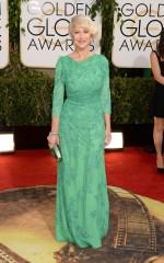 Helen Mirren in Jenny Packham, Roger Vivier, Boite de Nuit Fleur and Bulgari