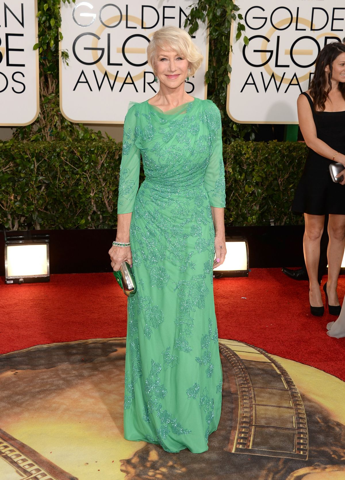 HELEN MIRREN at 71st Annual Golden Globe Awards