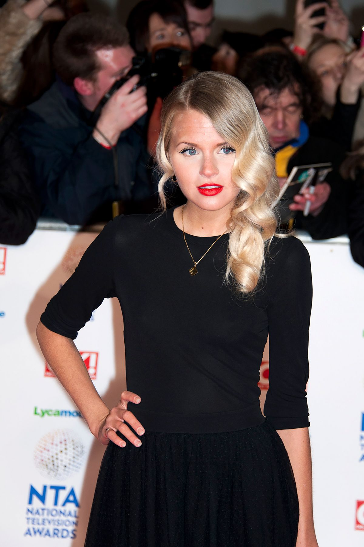 HETTI BYWATER at 2014 National Television Awards in London