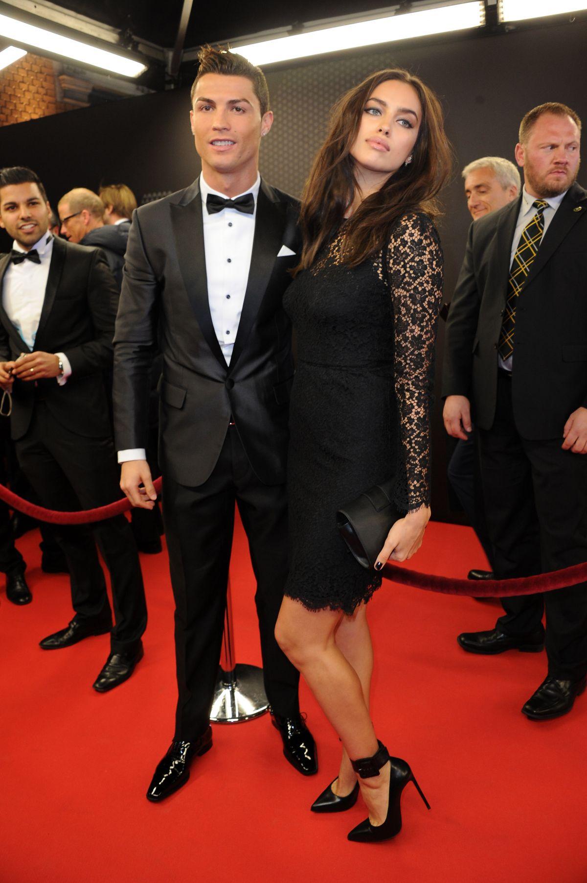 IRINA SHAYK and Cristiano Ronaldo at Ballon D'or 2013 ... Irina Shayk And Cristiano Ronaldo 2013