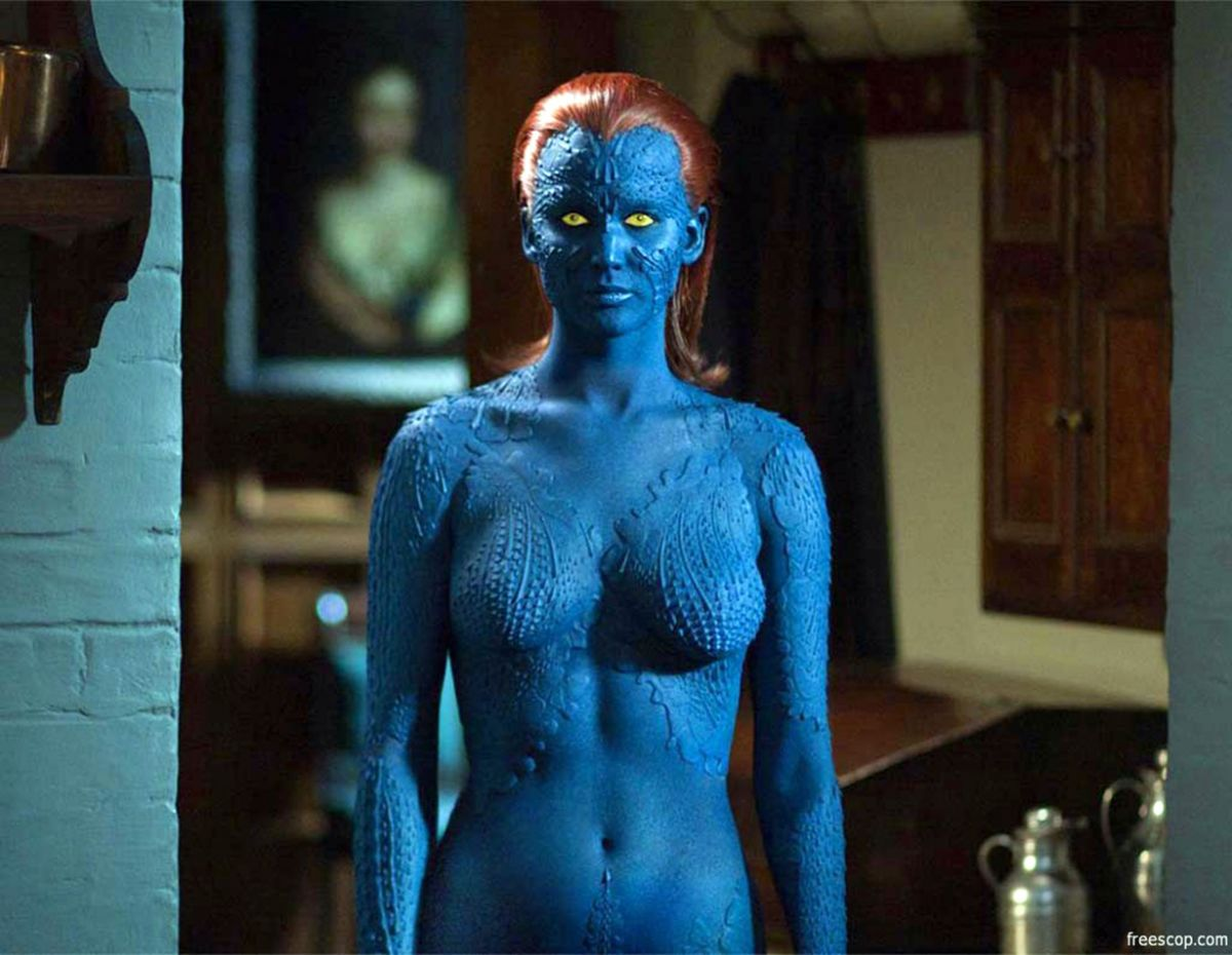 JENNIFER LAWRENCE Wearing Mystique Outfit From X MenX Men Days Of Future Past Mystique Jennifer Lawrence
