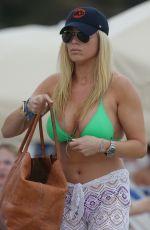 JILL MARTIN in Bikini at a Beach in Miami