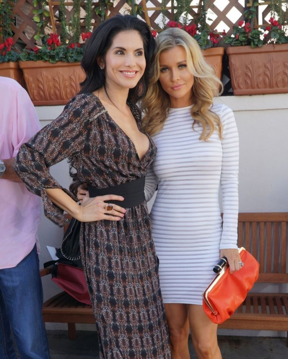 JOANNA KRUPA and JOYCE GIRAUD at Il Pastaio in Beverly Hills