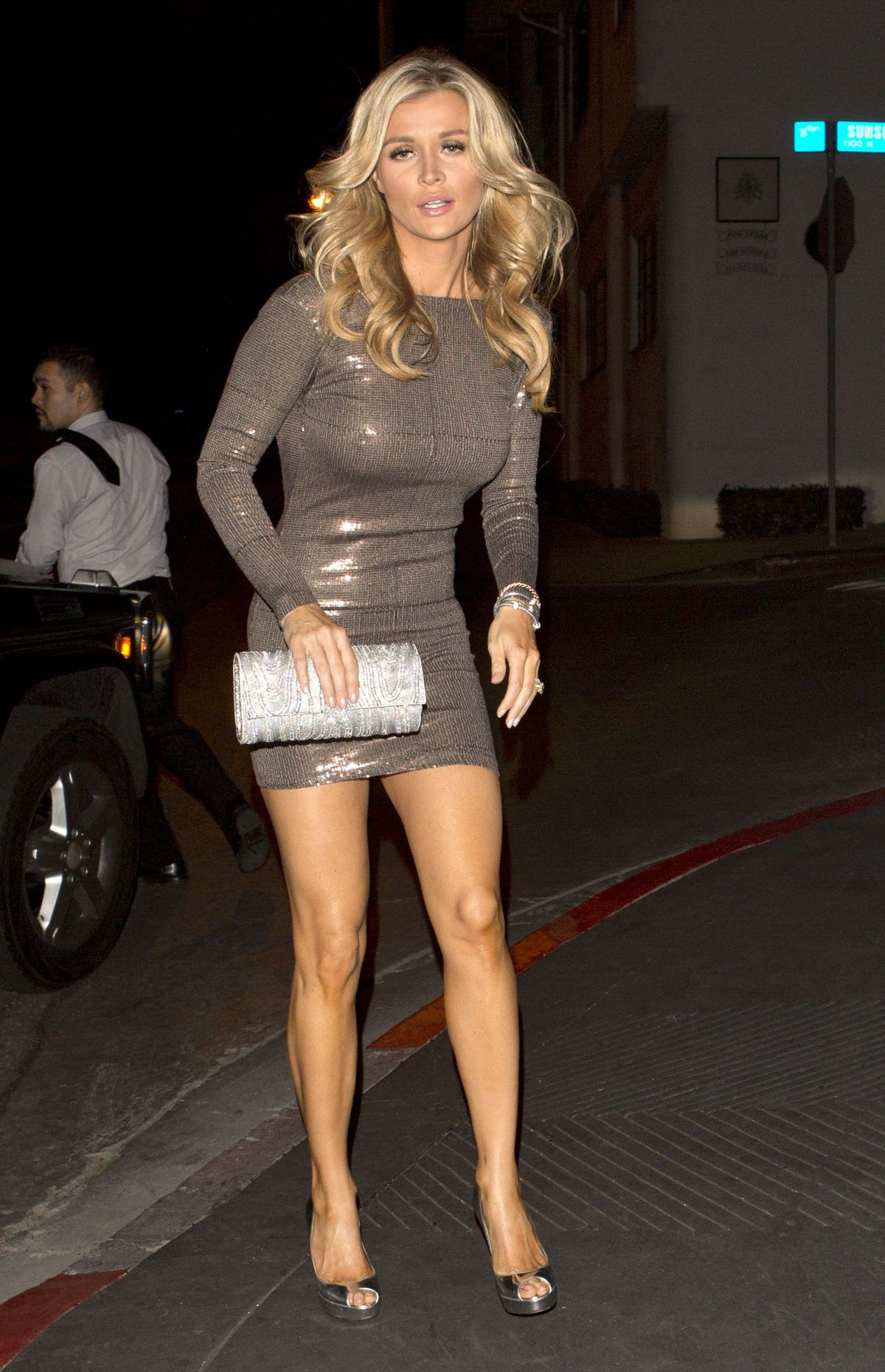 JOANNA KRUPA in Tight Mini Dress Out in West Hollywood ...