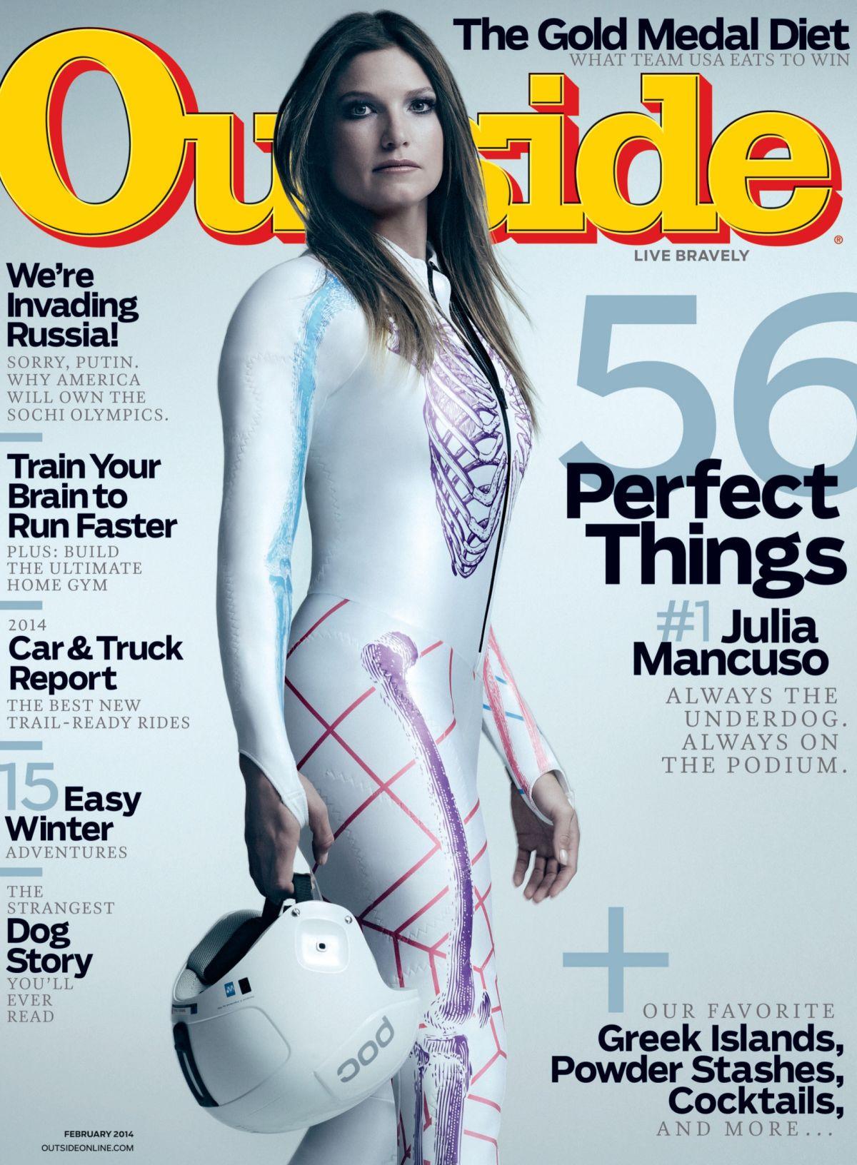 JULIA MANCUSO in Outside Magazine, February 2014 Issue