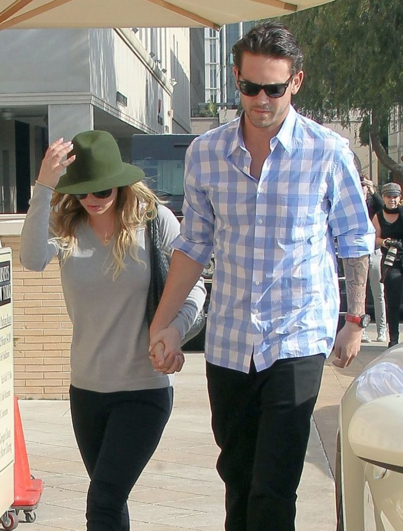 KALEY CUOCO and Ryan Sweeting Out in Beverly Hills