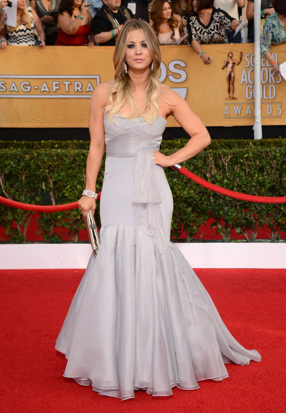 KALEY CUOCO at 2014 SAG Awards in Los Angeles