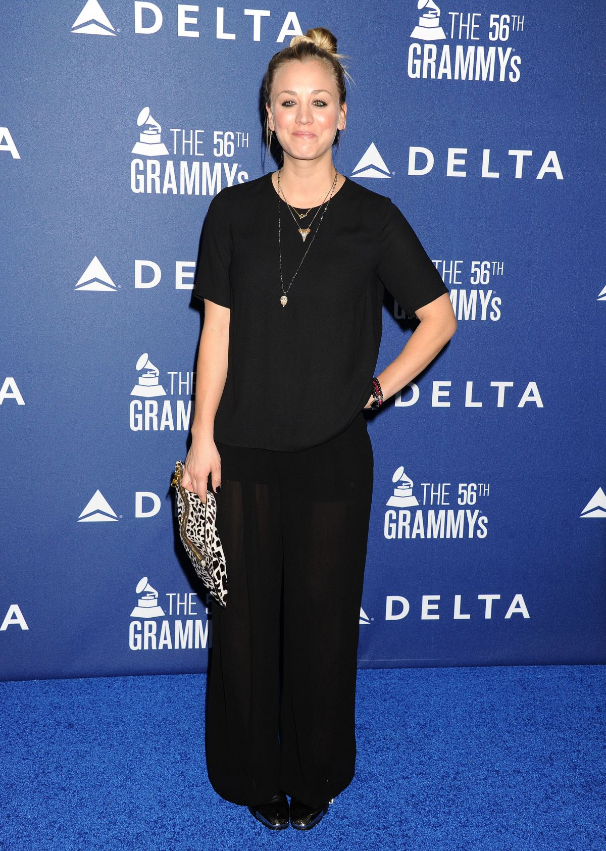 KALEY CUOCO at Delta Air Lines 2014 Grammy Weekend Reception in Los Angeles