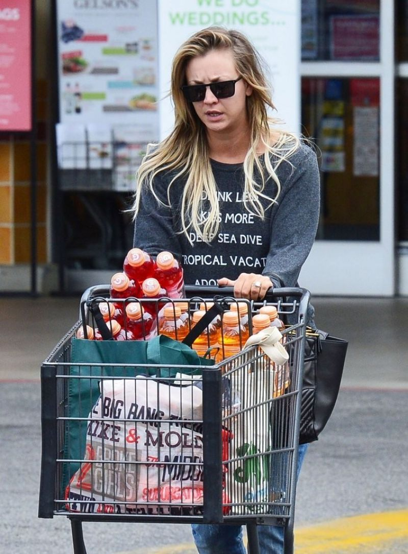 KALEY CUOCO Shopping at Gelson