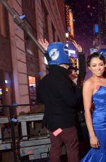 KAT GRAHAM at the Hard Rock Cafe New Years Eve Party in New York