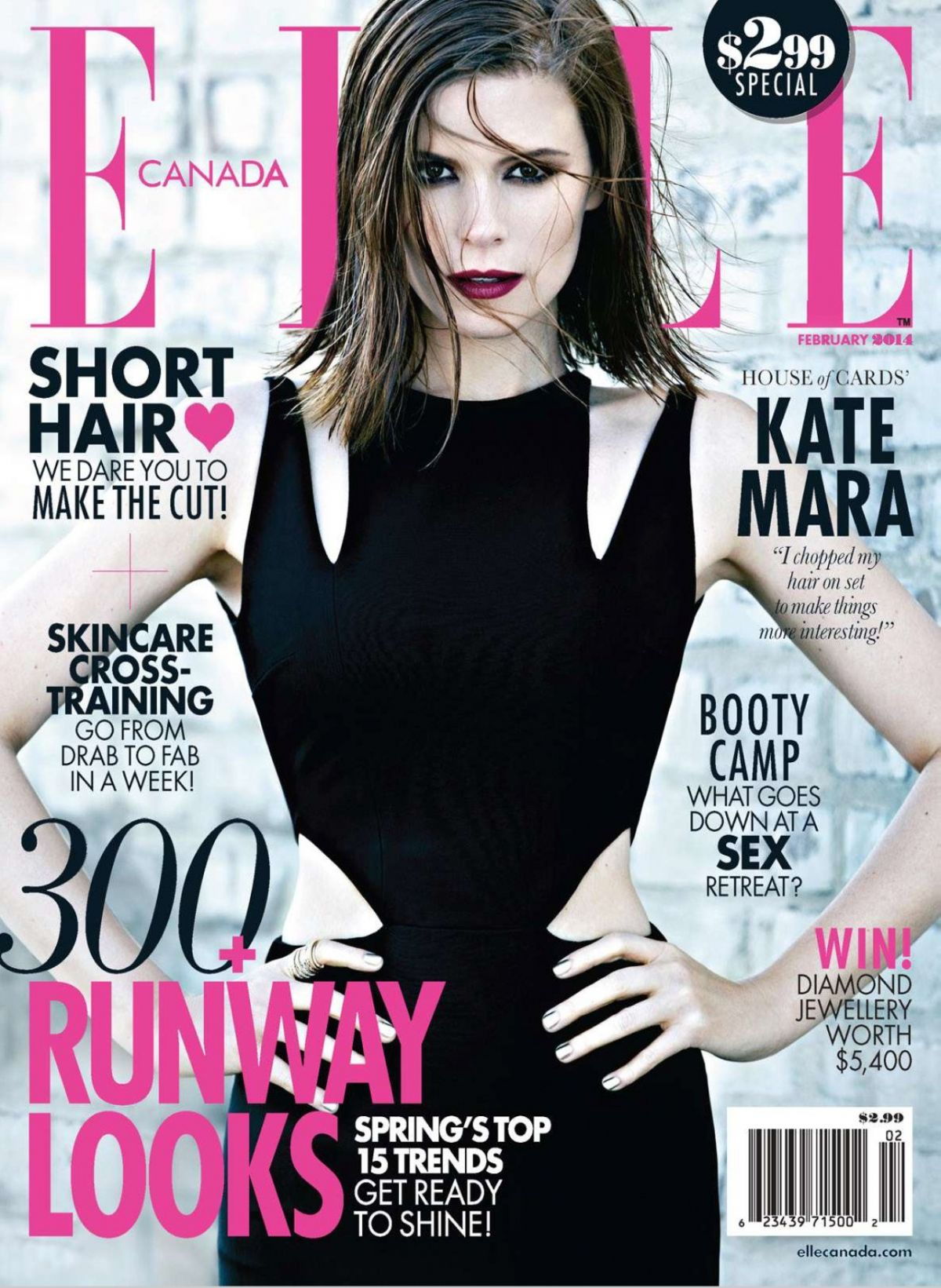 Elle Magazine France February March: KATE MARA In Elle Magazine, Canada February 2014 Issue