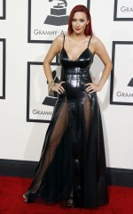 Kaya Jones at 2014 Grammy Awards in Los Angeles