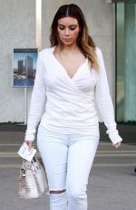 KIM KARDASHIAN Out and About in Plaza Towers in Los Angeles