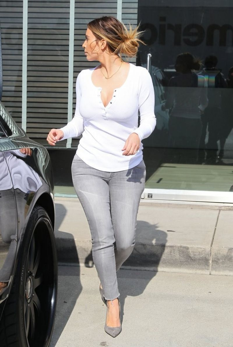 Kim Kardashian Out Shopping In West Hollywood Hawtcelebs