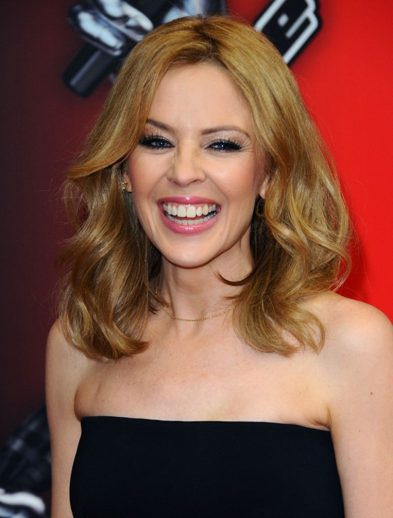 The Kylie Cosmetics Summer Makeup Collection Launches Soon: KYLIE MINOGUE At The Voice UK Launch In London