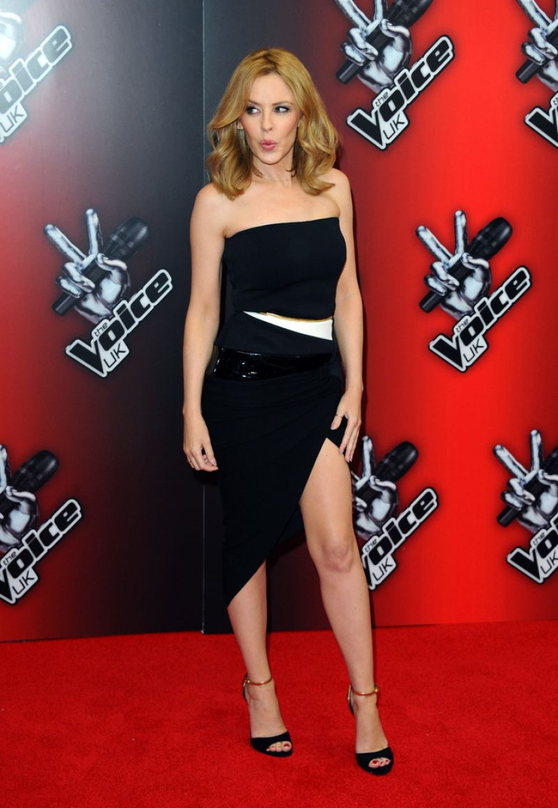 Kylie Minogue Gives Superfan Pricelesssurprises As She: KYLIE MINOGUE At The Voice UK Launch In London