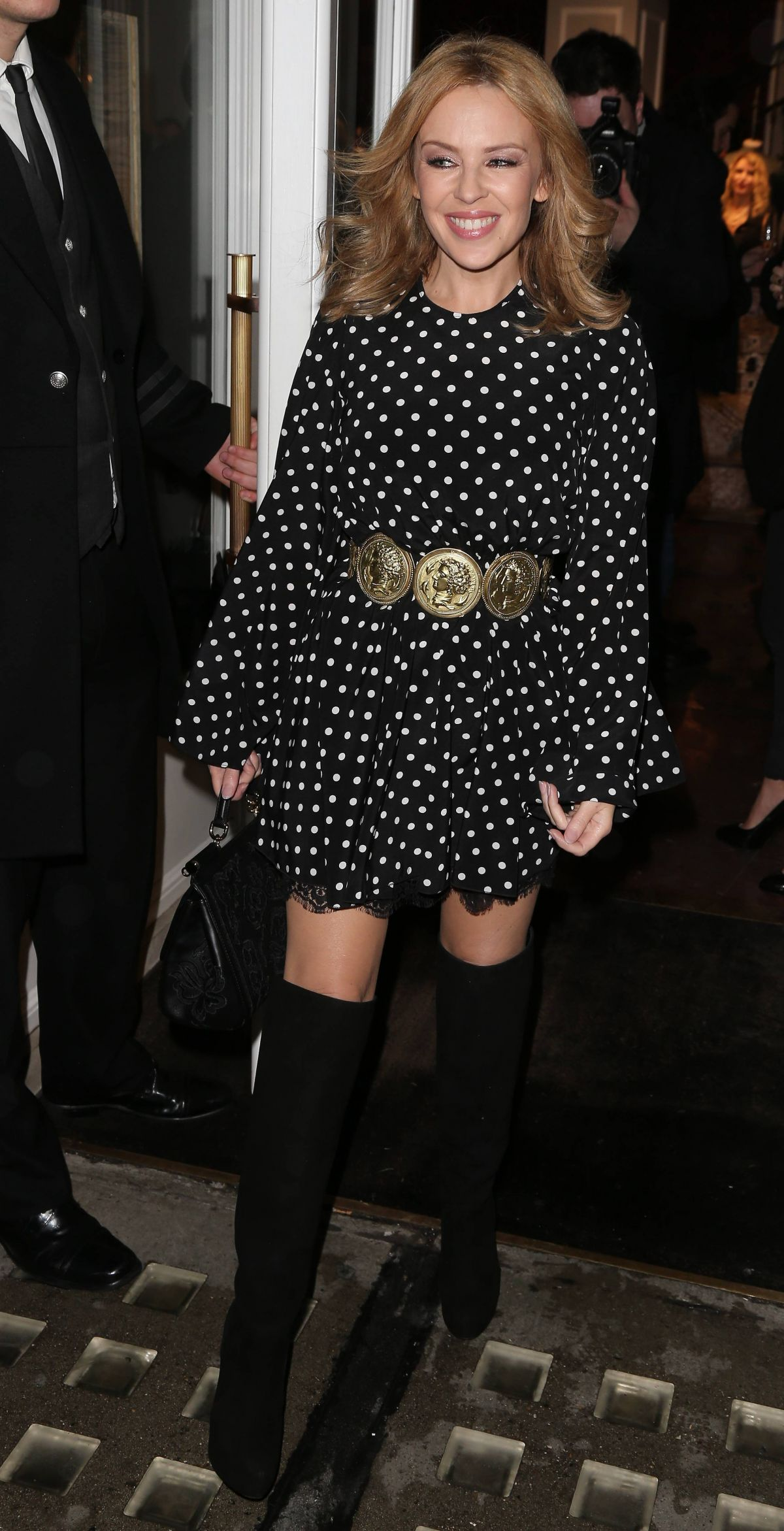 KYLIE MINOGUE Leaving Dolce And Gabbana In London