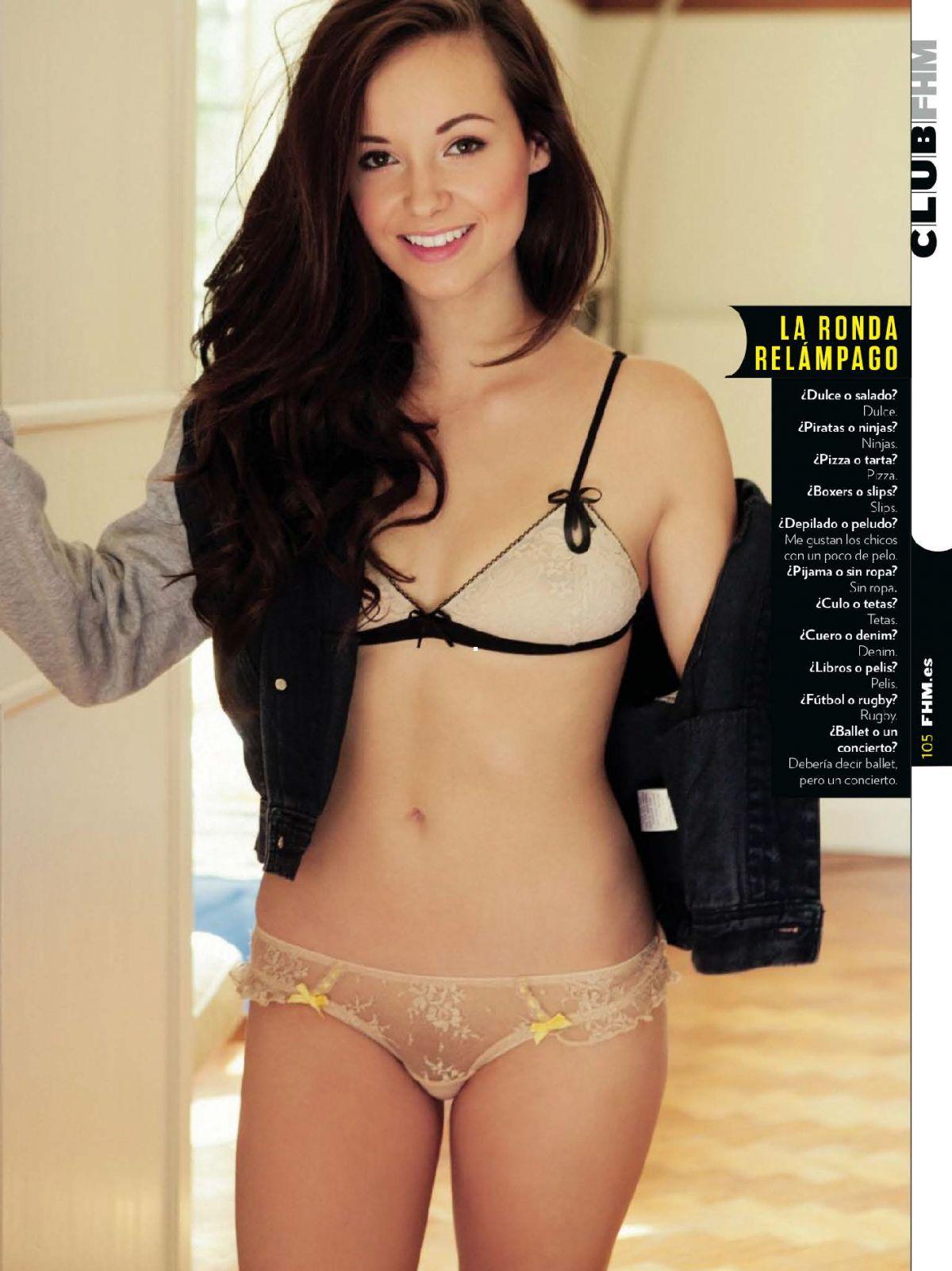 LAUREN LORETTA in FHM Magazine, Spain February 2014 Issue
