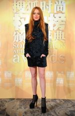LINDSAY LOHAN at the Fashion Achievement Awards in Shanghai