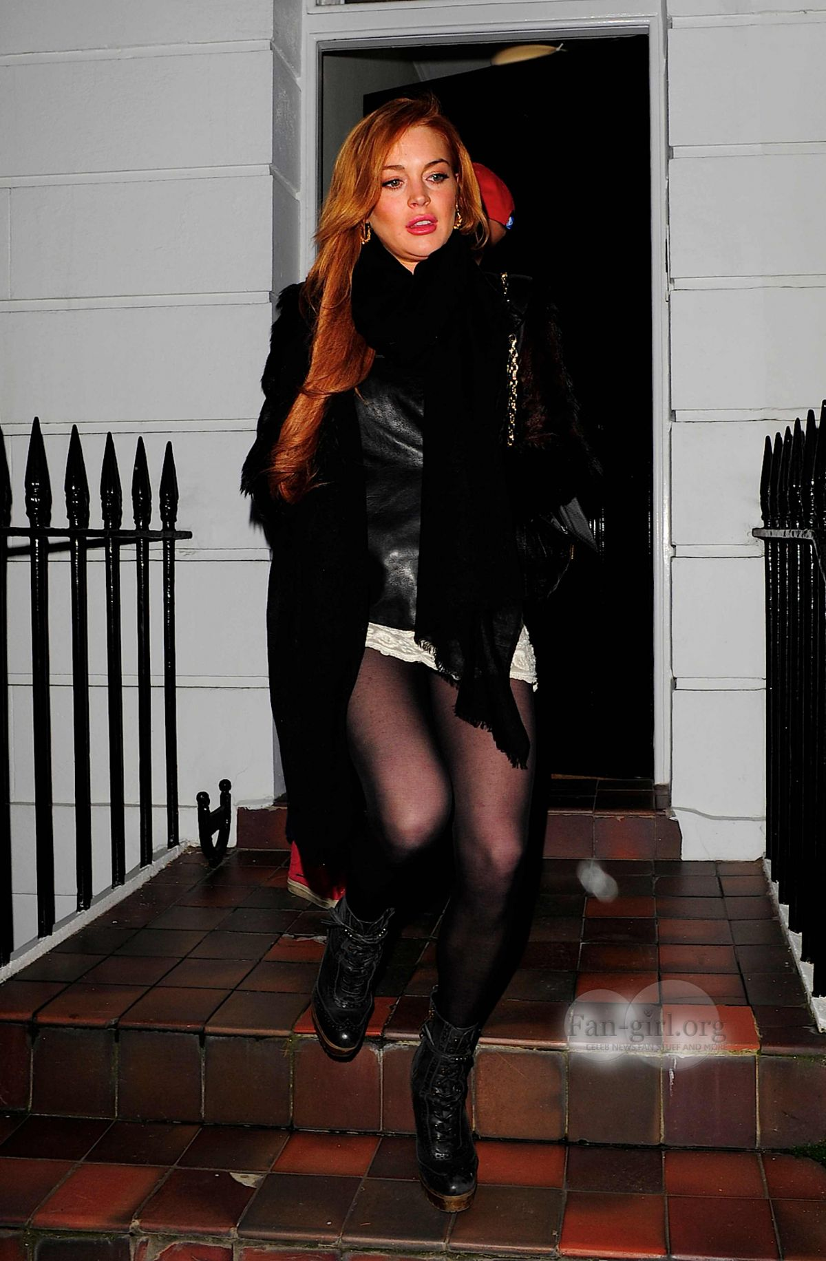 Lindsay Lohan Mini Skirt 38