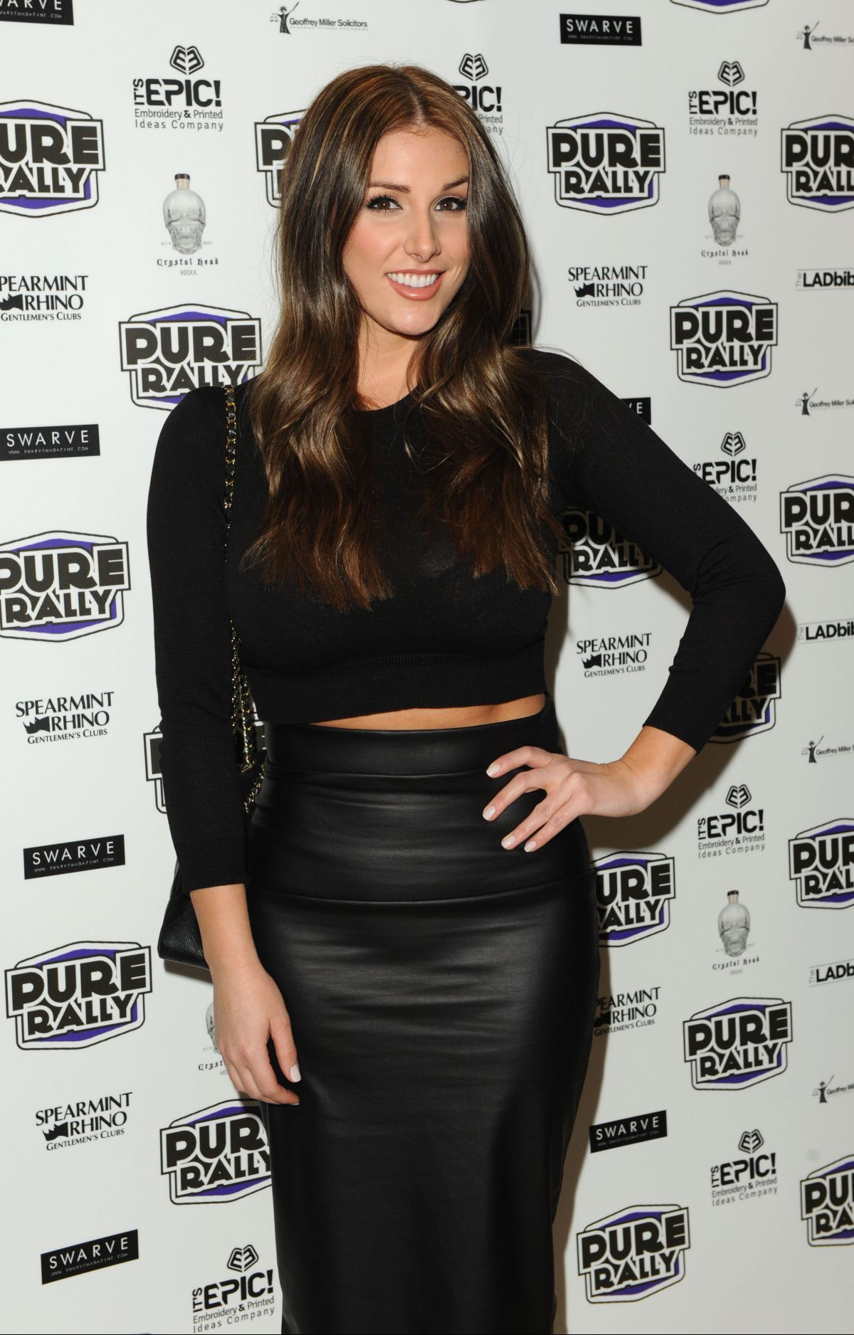 LUCY PINDER at Pure Rally Event at Mayfair in London